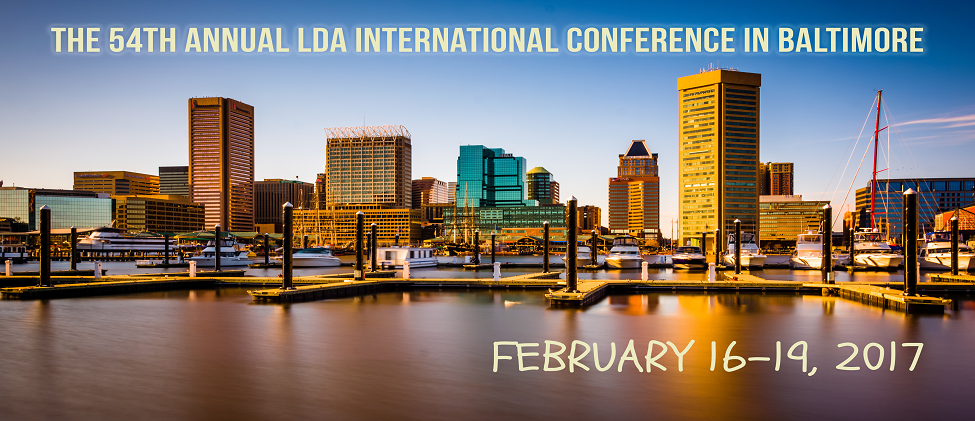 Conference banner for 54th LDA in Baltimore