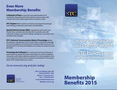 STC 2015 Membership Benefits Flyer