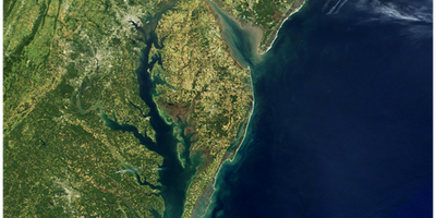 Landsat image of the Chesapeake Bay and Mid-Atlantic States