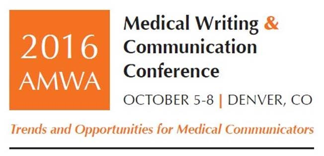 AMWA American Medical Writer's Association 2016 conference ad 652x315
