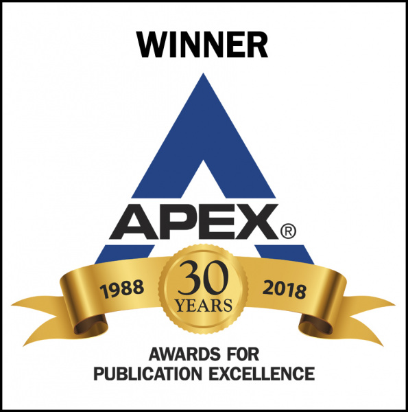 APEX Award 30th Anniversary 2018 Winner logo for Publication Excellence