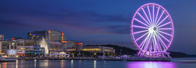 Photo of the Gaylord Hotel and the Capital Wheel at National Harbor, MD