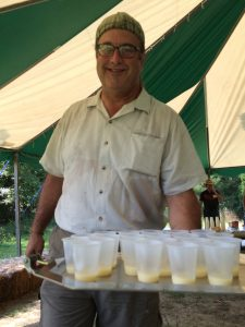 Photo of Rob Losey holding the tasting tray
