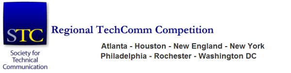 Logo for STC Regional TechComm Competition-Atlanta, Houston, New England, New York, Philadelphia, and Rochester