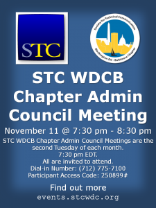 STC WDCB Chapter Admin Council Meeting – WDCB Events & News