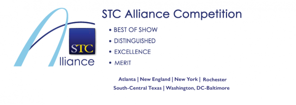 STC Alliance Competition banner with award levels and participating chapter names