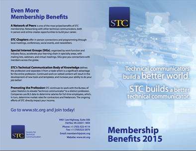 STC 2015 Membership Benefits Flyer