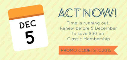 Graphic for last day toget low rate for membership renewal