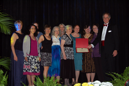 WDC Chapter Representatives Accept Chapter of Distinction Award.