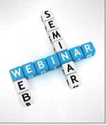 Small graphic for webinar using letter blocks