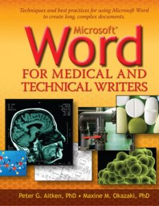 Book cover for Word for Medical and Technical Writers -- First Edition